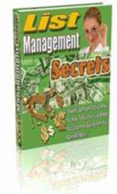 Product picture List management Secrets